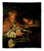 Pilate Washing His Hands Fleece Blanket