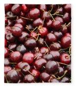 Pile Of Cherries Fleece Blanket