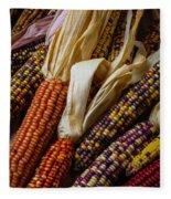 Pile Of Indian Corn Fleece Blanket