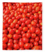 Pile Of Small Tomatos For Sale In Market Fleece Blanket