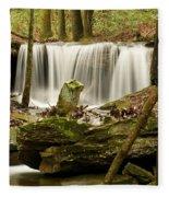 Pillar And Waterfall Fleece Blanket