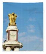 pillar for the 50th anniversary of India, Chennai, Tamil Nadu Fleece Blanket