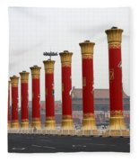 Pillars At Tiananmen Square Fleece Blanket