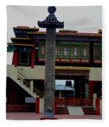 Pillars Of A Monastery Fleece Blanket