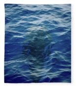 Pilot Whale 9 The Mermaid  Fleece Blanket