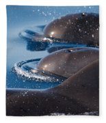 Pilot Whales 1 Fleece Blanket