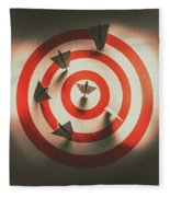 Pin Point Your Target Audience Fleece Blanket
