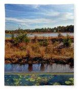 Pine Barrens Bog In New Jersey Fleece Blanket