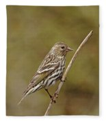 Pine Chirper Fleece Blanket