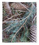 Pine Cone Brush Fleece Blanket