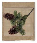 Pine Cone Design Fleece Blanket