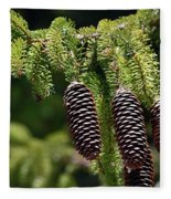 Pine Cones On The Bough Fleece Blanket