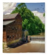 Pine Creek Gristmill Fleece Blanket