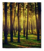Pine Forest In La Boca Del Asno-segovia-spain Fleece Blanket
