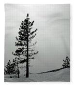 Pine In Snow Fleece Blanket