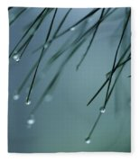 Pine Needle Raindrops Fleece Blanket