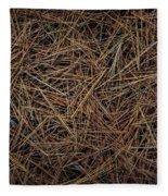 Pine Needles On Forest Floor Fleece Blanket