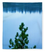 Pine On The River Fleece Blanket