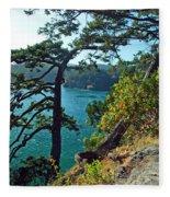 Pine Over The Bay Fleece Blanket