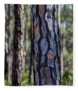Pine Tree Bark Fleece Blanket