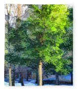 Pine Tree Forest Fleece Blanket