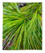 Pine Tree Needles Fleece Blanket