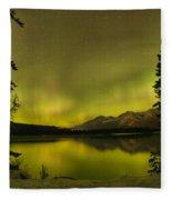 Pine Tree Silhouettes Fleece Blanket
