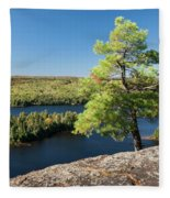 Pine Tree With A View Fleece Blanket