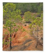 Pine Trees And Forest Fleece Blanket
