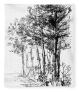 Pine Trees Fleece Blanket