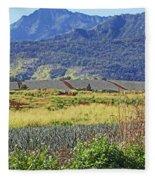 Pineapple Fields Fleece Blanket