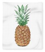 Pineapple Pencil Fleece Blanket
