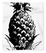 Pineapple Print Fleece Blanket