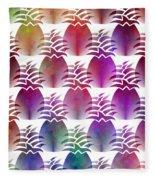 Pineapple Repeat Fleece Blanket