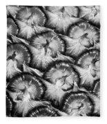 Pineapple Skin - Bw Fleece Blanket