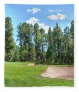 Pinetop Country Club Photos Fleece Blanket