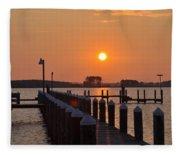 Piney Point Sunrise Fleece Blanket