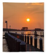Piney Point Sunrise Fleece Blanket