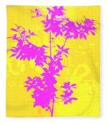 Pink Abstract Tree Fleece Blanket