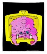 Pink Alien Fleece Blanket