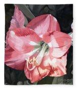 Pink Amaryllis Fleece Blanket