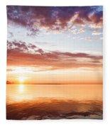 Pink And Gold Morning Zen - Toronto Skyline Impressions Fleece Blanket