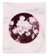 Pink And White Anemones Fleece Blanket