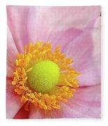 Pink Anemone Fleece Blanket