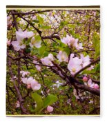 Pink Aplle Blossoms Of Spring Time Fleece Blanket