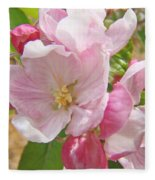 Pink Apple Blossoms Art Prints Spring Trees Baslee Troutman Fleece Blanket