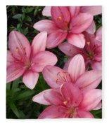 Pink Asiatic Lilies 2 Fleece Blanket