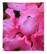 Pink Azalea Drama Fleece Blanket