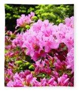 Pink Azalea Flowers Landscape 11 Art Prints Canvas Artwork Framed Art Cards Fleece Blanket