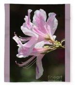 Pink Azalea Macro Fleece Blanket